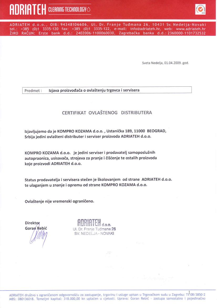 adriateh autorizacija
